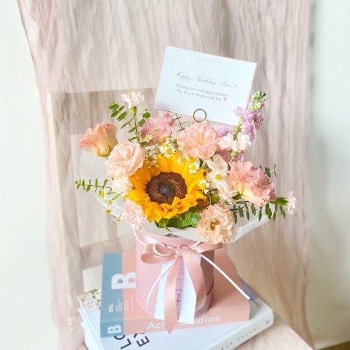 Mini Sunflower Hatbox